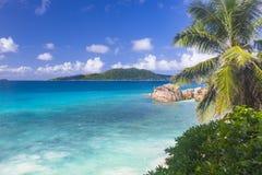 Klepnięcie plaża, Seychelles Zdjęcia Royalty Free