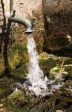 Klepnięcie z wodą bieżącą zdjęcie royalty free