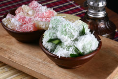 Klepon and getuk, indonesia traditional food Royalty Free Stock Photography