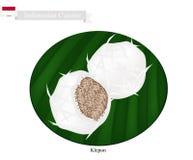 Klepon or Indonesian Sweet Pandanus Rice Cake Stock Image