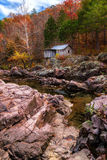 Klepzig磨房在秋天 图库摄影