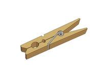 Kleren-pin Stock Afbeelding