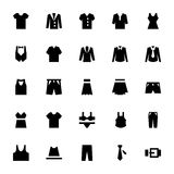 Kleren Vectorpictogrammen 1 stock illustratie