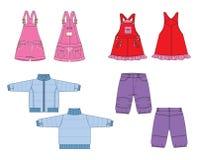 kleren voor baby vector illustratie