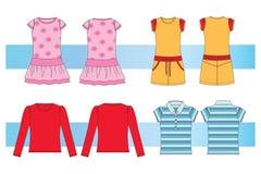 Kleren voor jonge vrouwen en meisjes vector illustratie