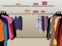 Kleren in winkelvector vector illustratie