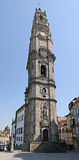 Klerigush belltower in Porto, Portugal. The 75-metre tower - the highest in Portugal and also is one of symbols of Porto. The belltower of Klerigush was royalty free stock photography
