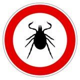 Kleszczowy zwierzę znak odizolowywający Obrazy Royalty Free