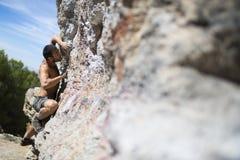 Kletterer lizenzfreie stockbilder