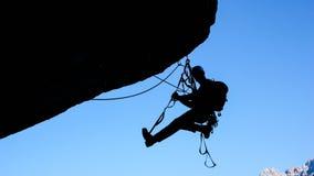 Kletterer in den Schweizer Alpen Lizenzfreie Stockfotos