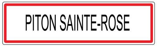 Kletterhaken-Heilig-Rosen-StadtVerkehrszeichenillustration in Frankreich Lizenzfreies Stockbild