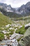 Klettern auf adamello Gletscher auf den italienischen Alpen Lizenzfreie Stockfotos