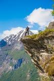 Klettern bei Norwegen Stockfoto