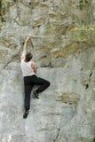 Klettern in der Natur Lizenzfreie Stockfotos