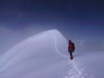 Klettern eines Berges Lizenzfreie Stockbilder