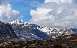 Klettern, Gehen und Skiiing in Glen Coe in den Hochländern von Schottland Stockbilder