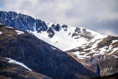 Klettern, Gehen und Skiiing in Glen Coe in den Hochländern von Schottland Lizenzfreies Stockfoto