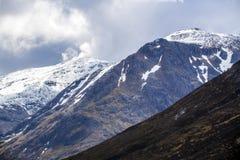 Klettern, Gehen und Skiiing in Glen Coe in den Hochländern von Schottland Stockfotografie