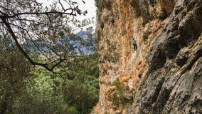 Klettern im Arko Lizenzfreie Stockfotos