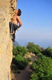 Klettern in Krim Stockbild