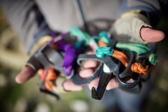 Kletternde Ausrüstungsansicht Lizenzfreies Stockfoto