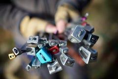 Kletternde Ausrüstungsansicht Lizenzfreies Stockbild