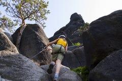 Kletternde Dame Lizenzfreies Stockbild