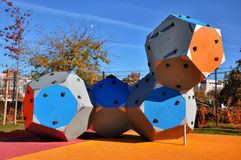 Kletternde Felsen im Park Lizenzfreie Stockfotos