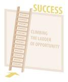 Kletternde Leiter der Gelegenheits-Erfolgs-Illustration Stockfotos