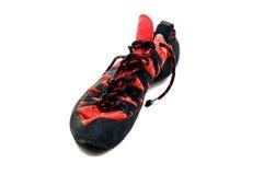 Kletternde Schuhe Stockfoto