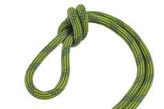 Kletternder Knoten lokalisiert auf Weiß Lizenzfreie Stockfotos