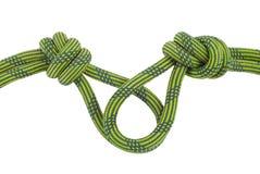 Kletternder Knoten lokalisiert auf Weiß Lizenzfreie Stockbilder