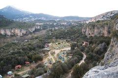 Kletternder Lagerbereich Stockfotos