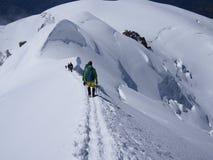 Kletternder Mont Blanc in Frankreich Lizenzfreies Stockfoto