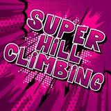 Kletternder Superhügel - Comic-Buch-Artwörter lizenzfreie abbildung