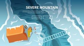 Kletternder Vektorhintergrund Abbildung im Vektor Lizenzfreies Stockbild