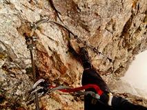Klettersteig C/D de Juan von Haid-steig Imagenes de archivo