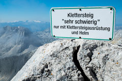 Klettersteig Stock Photography