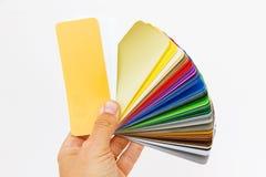 Kleur cahrt ter beschikking Stock Foto's