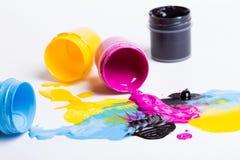 Kleur CMYK Royalty-vrije Stock Afbeeldingen