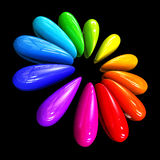 Kleur dalingen Royalty-vrije Stock Foto