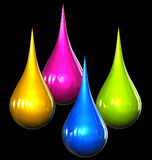 Kleur dalingen Stock Fotografie