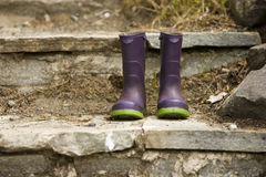 Kleur de Laarzen van de Regen van Kinderen Stock Foto
