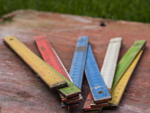 Kleur die meter vouwen Stock Foto