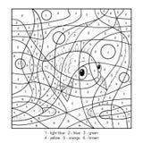 Kleur door aantal, vissen vector illustratie