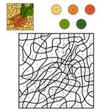 Kleur door aantal: wortelen Royalty-vrije Stock Afbeeldingen