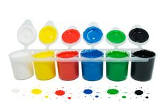 Kleur-doos    Royalty-vrije Stock Foto's