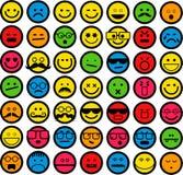 Kleur Emoticons Stock Afbeeldingen
