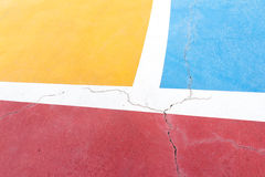 Kleur en patroon op futsal grond - 1 Royalty-vrije Stock Afbeeldingen