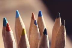 Kleur en Potloden Royalty-vrije Stock Afbeeldingen